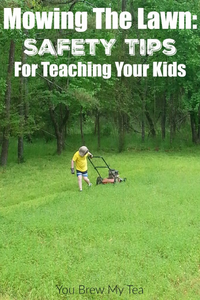 Mowing The Lawn: These Safety Tips For Teaching Your Kids about mowing the lawn will give them a great life skill and keep them safe while learning!