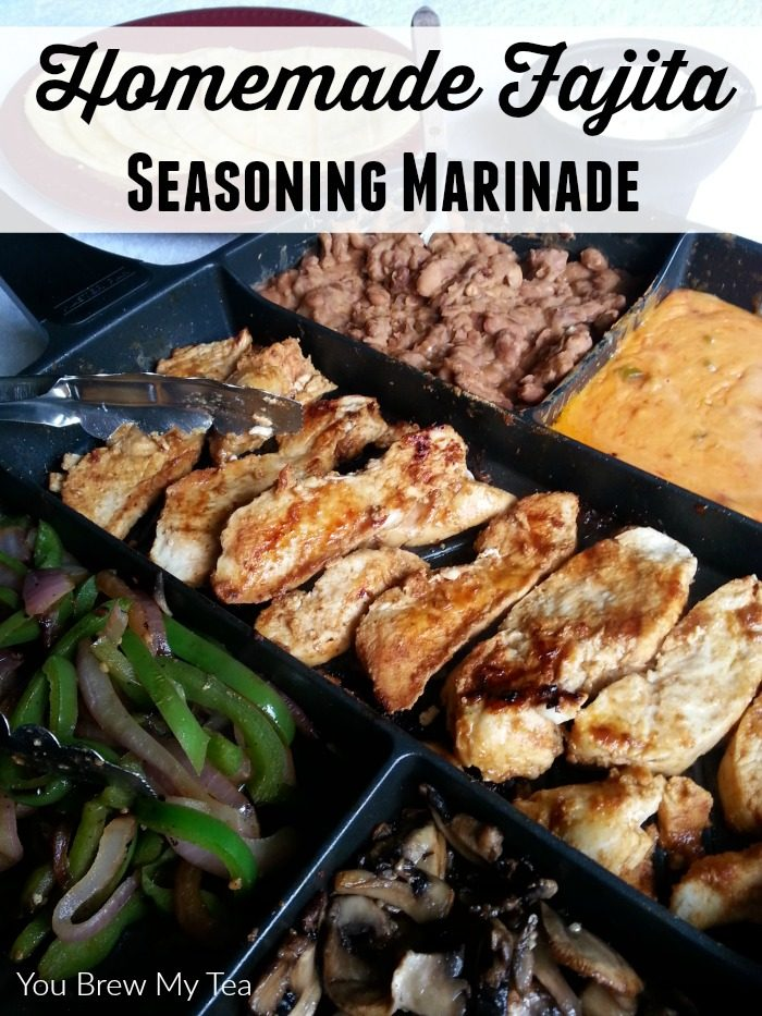 Our homemade fajita seasoning marinade is a fun way to infuse more flavor into any meat or vegetable! Make amazing fajitas every time with this delicious marinade!