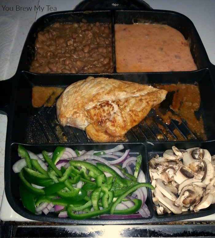 The Master Pan makes cooking custom fajitas, sauces, and dips so much easier! Non-stick surface alongside 5 individual separated cooking areas means one pan meals aren't just for casseroles!