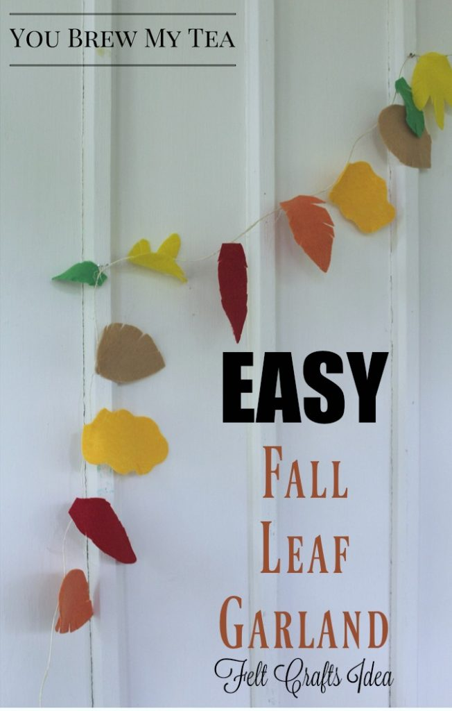 Felt Crafts Easy Fall Leaf Garland