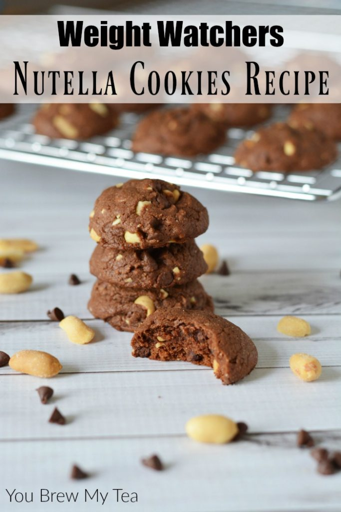 Nutella Cookies Recipe will be a new family favorite! This delicious soft cookie with crunchy nuts and chocolate is an ideal Weight Watchers treat with SmartPoints already calculated!
