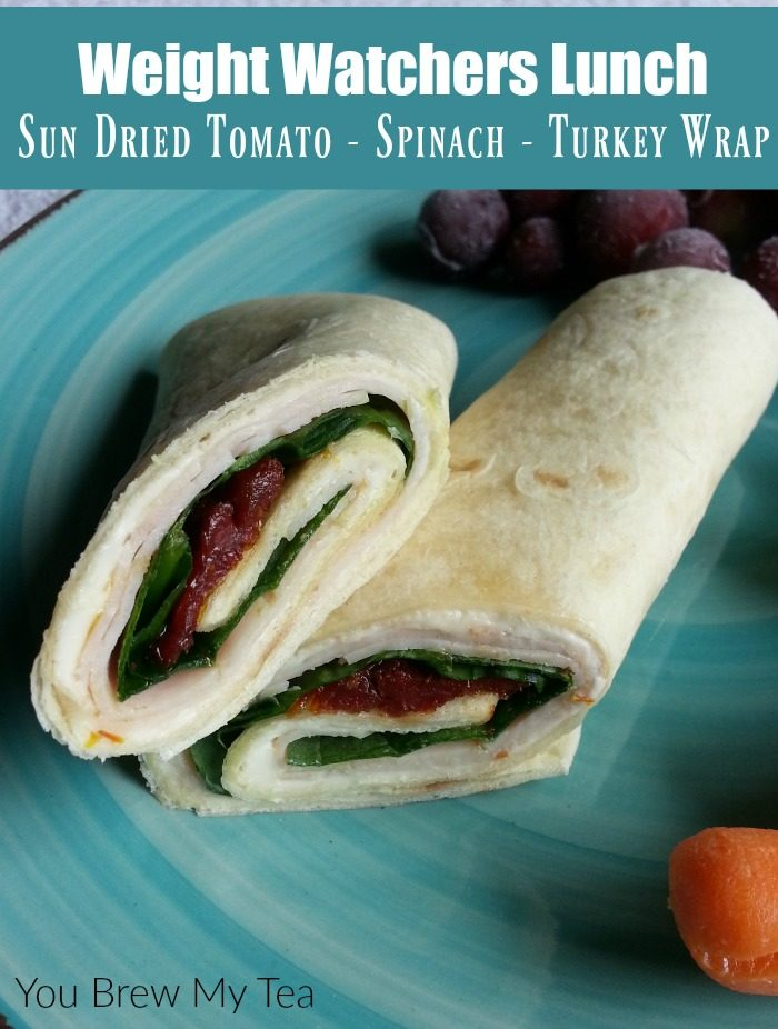 Weight Watchers Lunch is easy to plan with this delicious Turkey Wrap! SmartPoints are already calculated for this flavorful wrap with sun dried tomatoes and spinach!