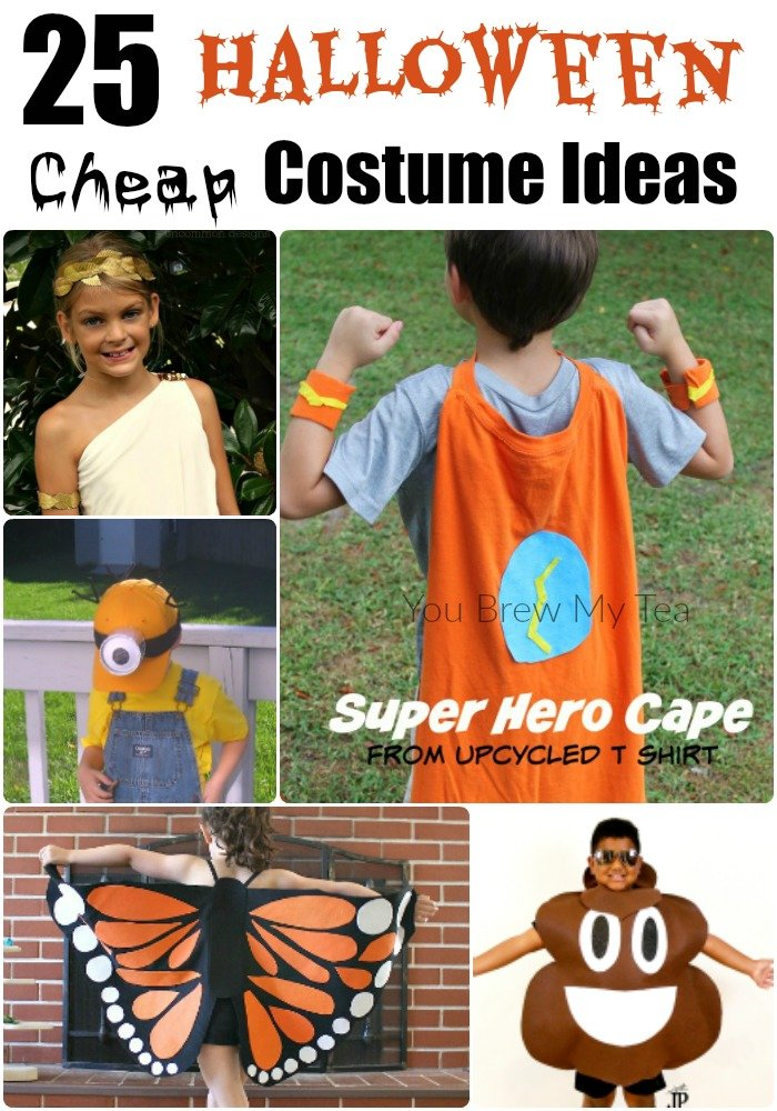 Cheap Halloween Costume Ideas are perfect for keeping kids happy and your budget in tact! Check out these fun ideas for Halloween Costumes for the whole family!