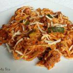 Gluten Free Pasta with Zucchini Meat Sauce