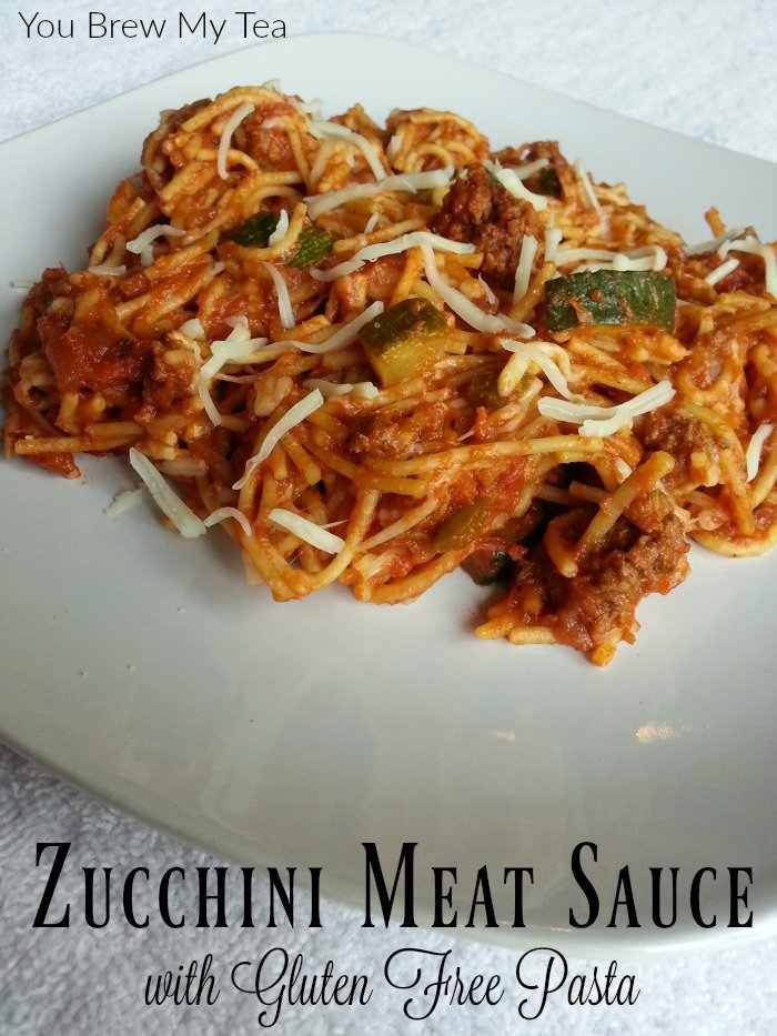 Gluten Free Pasta becomes even healthier when matched with our homemade Zucchini Meat Sauce! This delicious meal is ideal for a hearty dish everyone loves!