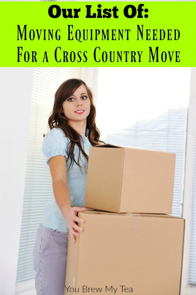 Moving Equipment is a must when you take on a cross country move. Check out our list of must haves here!