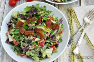 BLT Salad is a great choice for a hearty lunch everyone loves! This bacon lovers salad is fast and easy to make!