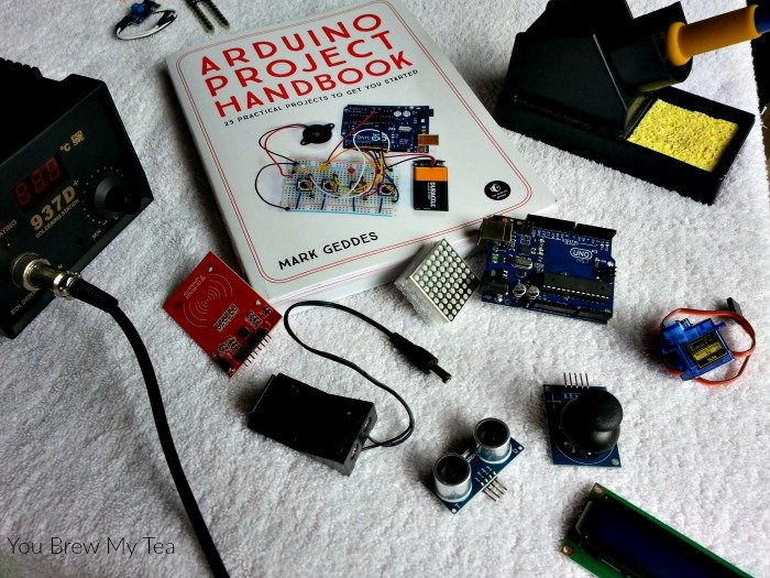 STEM Homeschool lessons are so easy when you utilize an Arduino microcontroller and this handy Arduino Project Handbook with 25 easy to complete projects!