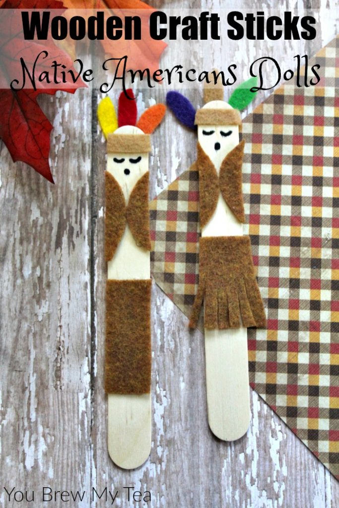 Wooden Craft Sticks Native American Dolls
