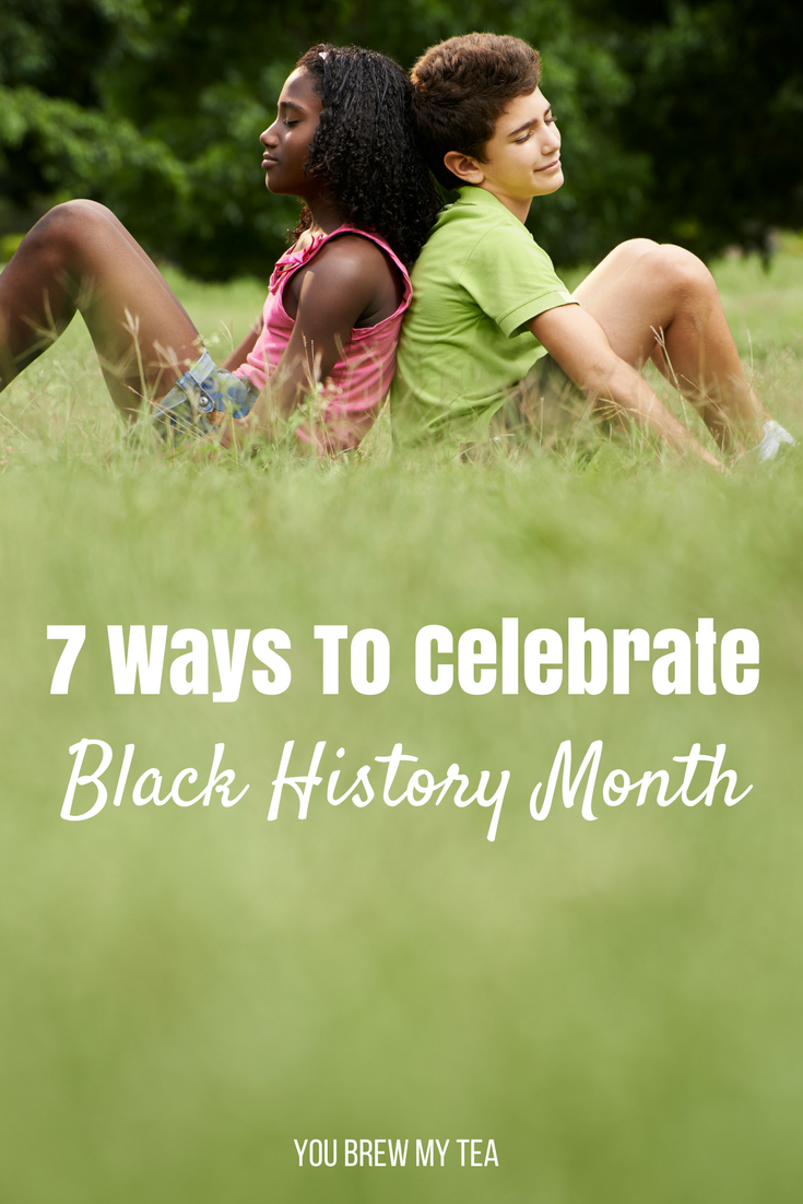 Homeschoolers will love these 7 Ways to Celebrate Black History Month with your child! Learn and teach them about diversity and courage through easy Black History Month education!
