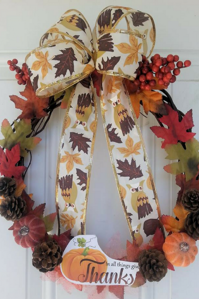 Dollar Tree Crafts are such a great way to decorate for holidays! Check out our Easy Autumn Wreath that doubles as a great Thanksgiving Wreath idea! Budget friendly and easy to make!