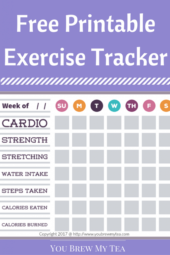 Free Printable Exercise Tracker is a great option for accountability for your new healthy resolutions and goals!
