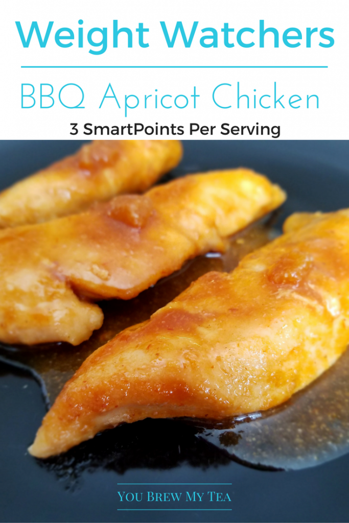 Make our BBQ Apricot Chicken Recipe for only 3 SmartPoints per serving!  This is so easy and delicious anyone can make this for dinner!