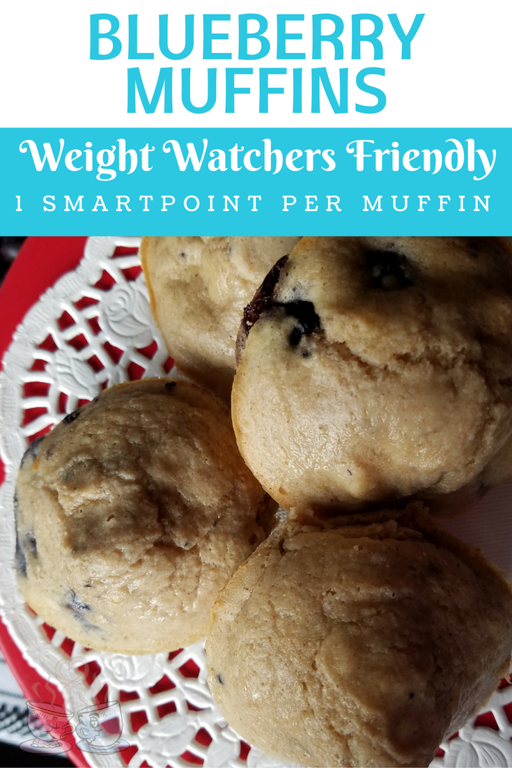 Blueberry Muffin for only 1 SmartPoint Per Muffin! This 3-Ingredient Blueberry Muffin Recipe is super easy, ready in 15 minutes and delicious!