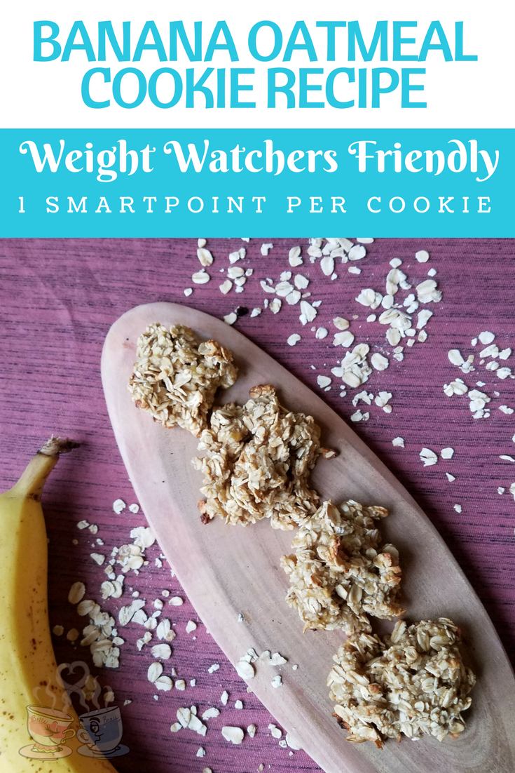 Breakfast Cookies are so easy for busy mornings, and this recipe for Oatmeal Banana Breakfast Cookies is only 1 SmartPoint per cookie on Weight Watchers!
