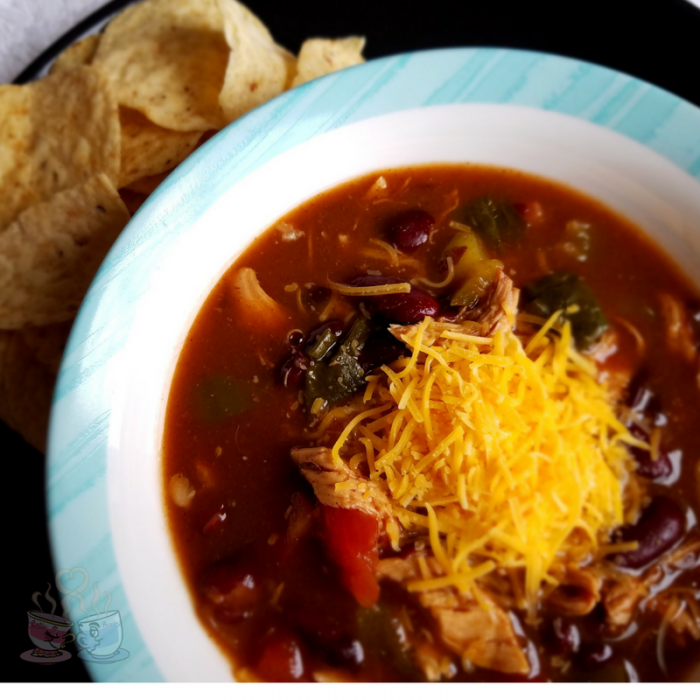 Chicken Taco Soup Recipe is a great Weight Watchers friendly meal! Only 3 SmartPoints per serving makes this an ideal lunch option that is full of flavor!