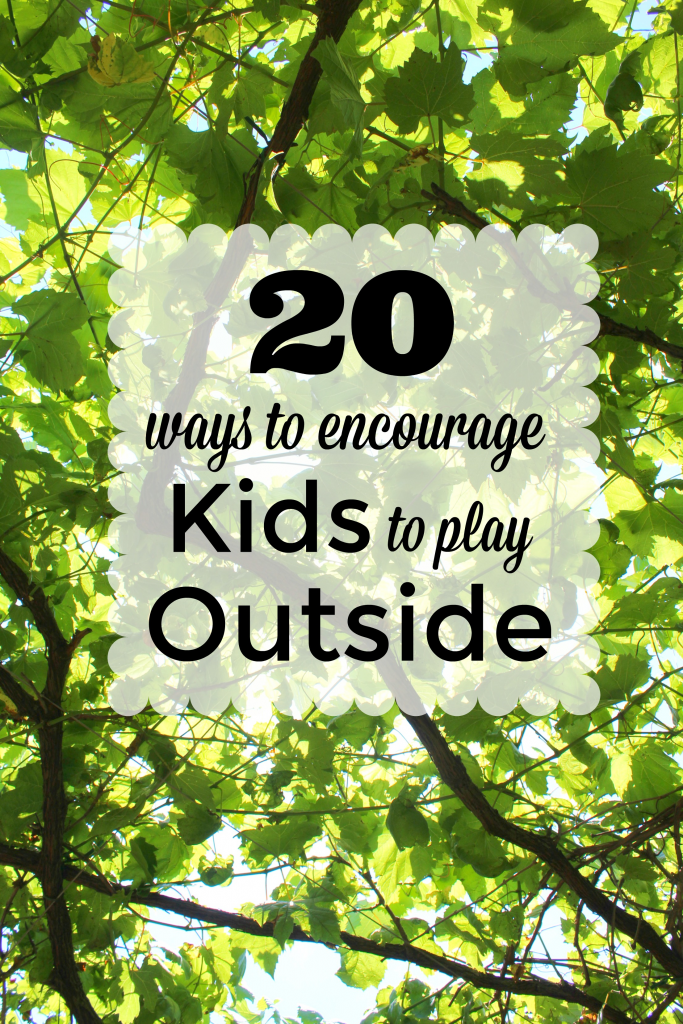 Outdoor Play is a must for healthy kids! Check out this list of 20 Ways to Make Outdoor Play a Priority for Kids! Tons of fun ideas they will love!