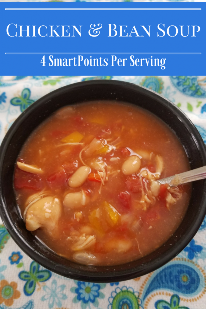 Chicken and Bean Soup is a favorite easy Instant Pot Recipe that your family will love! Only 4 SmartPoints per serving makes a great Weight Watchers Soup!