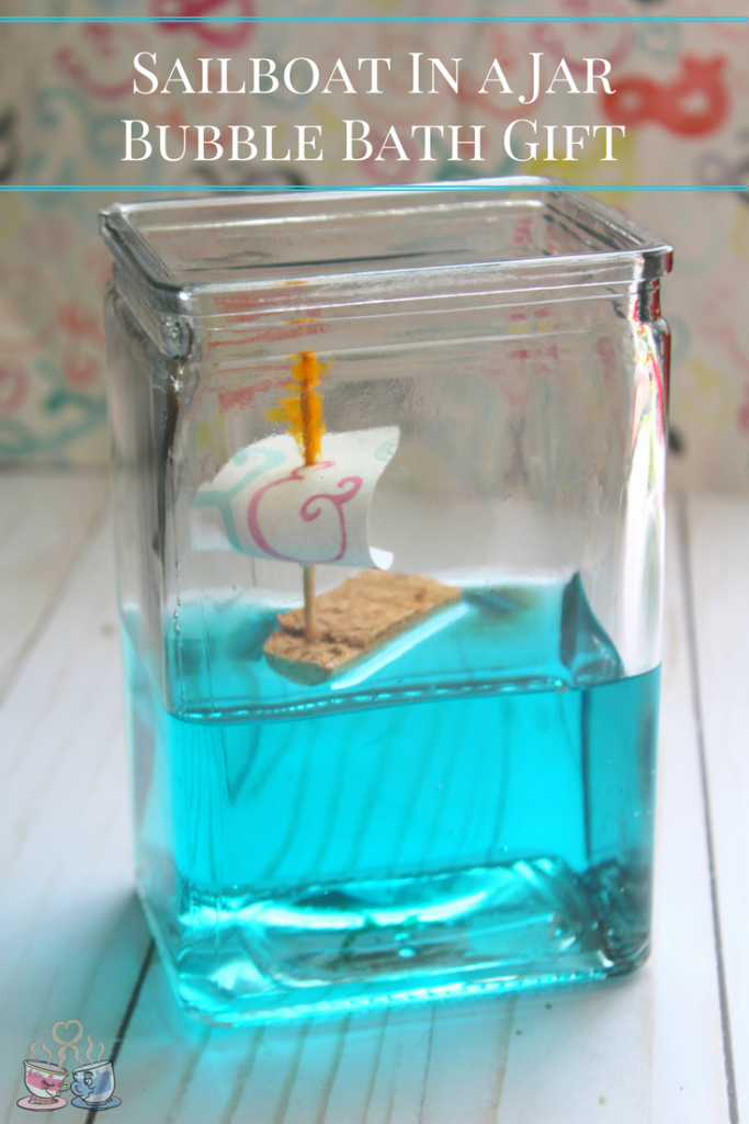 Create a fun DIY Bubble Bath Gift using this Sailboat in a jar Craft idea featuring our sponsor Johnson's Baby products! Easy and fun wine cork craft ideas are a must for any craft lover!