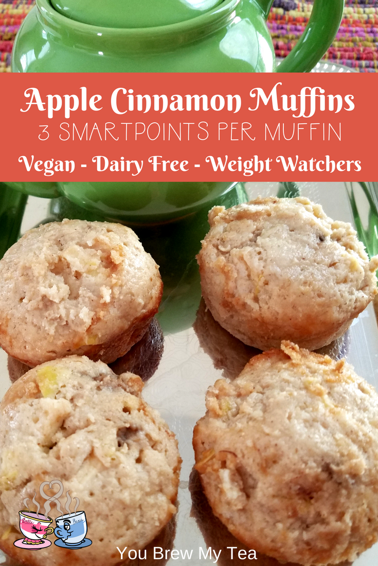 Apple Cinnamon Muffins are a must have in the fall when the weather cools off and this recipe is a great healthier option at only 3 SmartPoints per muffin!
