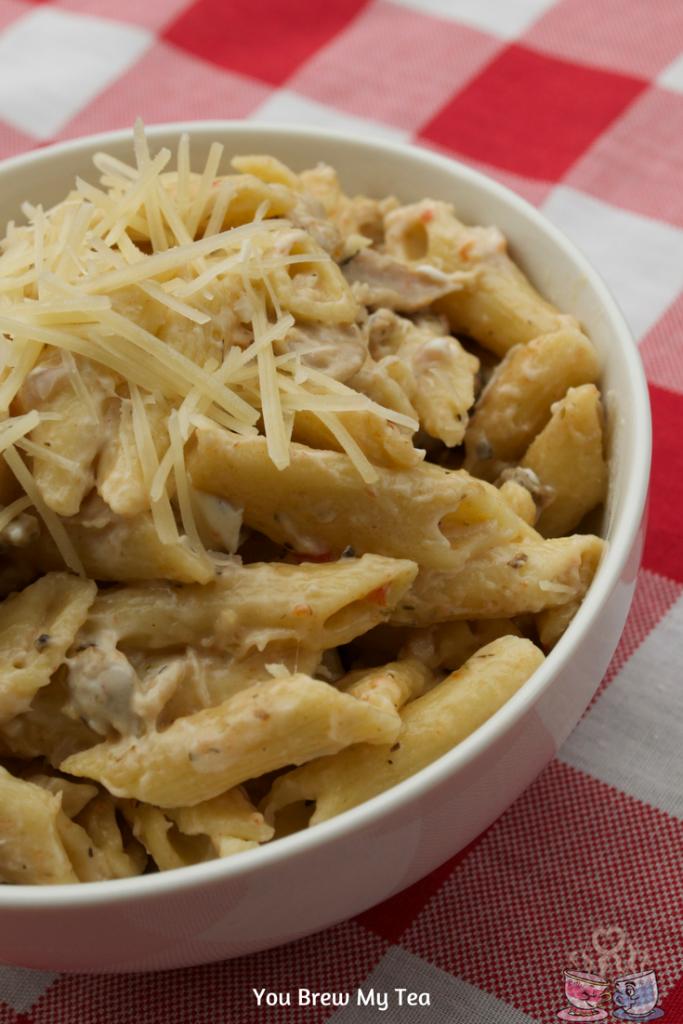 Instant Pot Italian Creamy Chicken Pasta Recipe