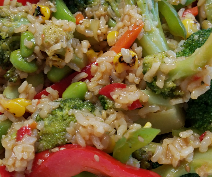 Check out our Lazy Vegan Fried Rice that is also Weight Watchers Friendly with only 10 SmartPoints per large 2 cup serving! This delicious healthy recipe is a great vegan dinner everyone will enjoy!