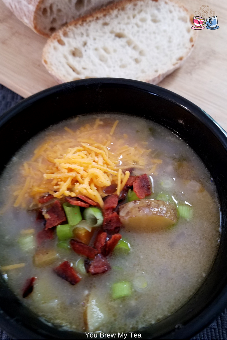 Vegan Potato Soup is a great winter soup recipe your family will love! Delicious Dairy Free Soups are hard to find, but this one is a winner across the board! #vegan #vegansoup