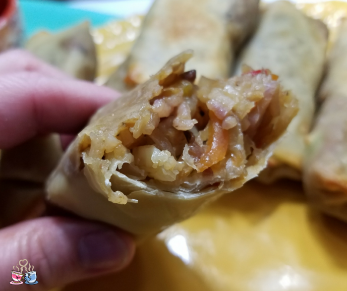 You'll love these Vegan Fried Rice Stuffed Homemade Egg Rolls! They are semi-homemade so come together fast, and full of flavor! Plus only 3 SmartPoints!