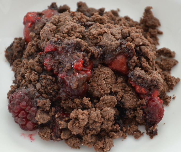Chocolate Covered Strawberry Cobbler is only 3 SmartPoints on the FreeStyle Weight Watchers Plan and is a delicious choice for a semi-homemade dessert!