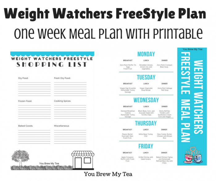 weight watchers freestyle plan one week menu plan