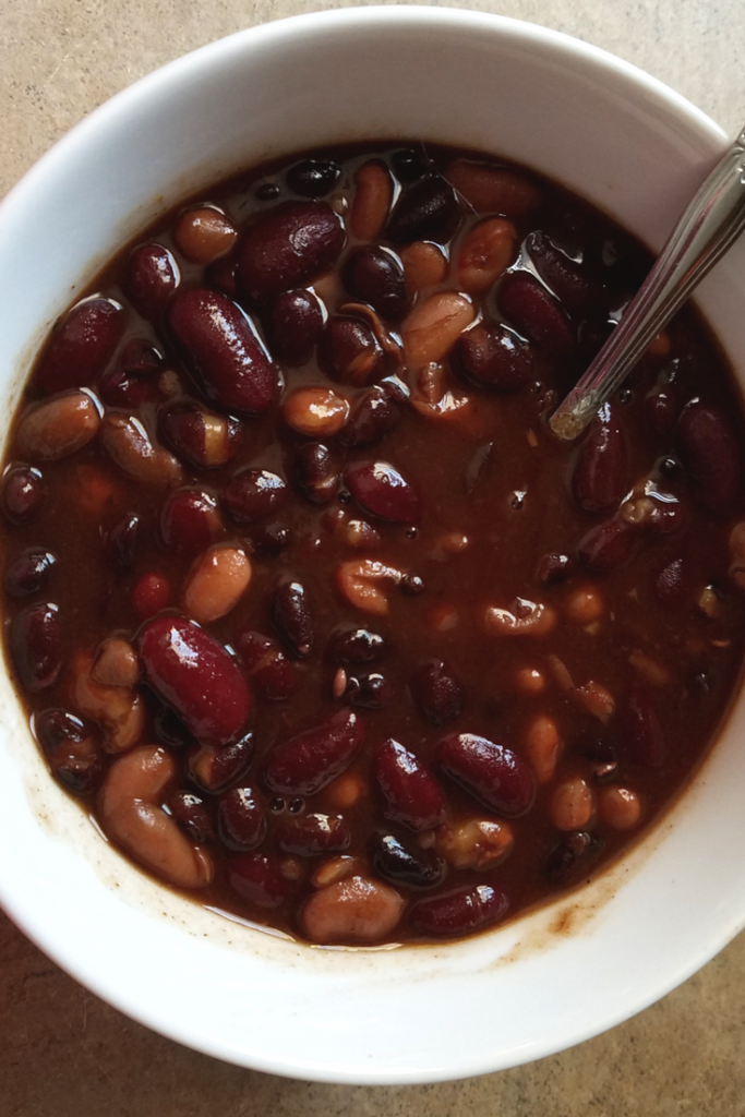 Homemade Baked Beans are so easy to make with our Weight Watchers Instant Pot Recipe!  This has only 3 FreeStyle Weight Watchers SmartPoints per serving and is full of flavor!