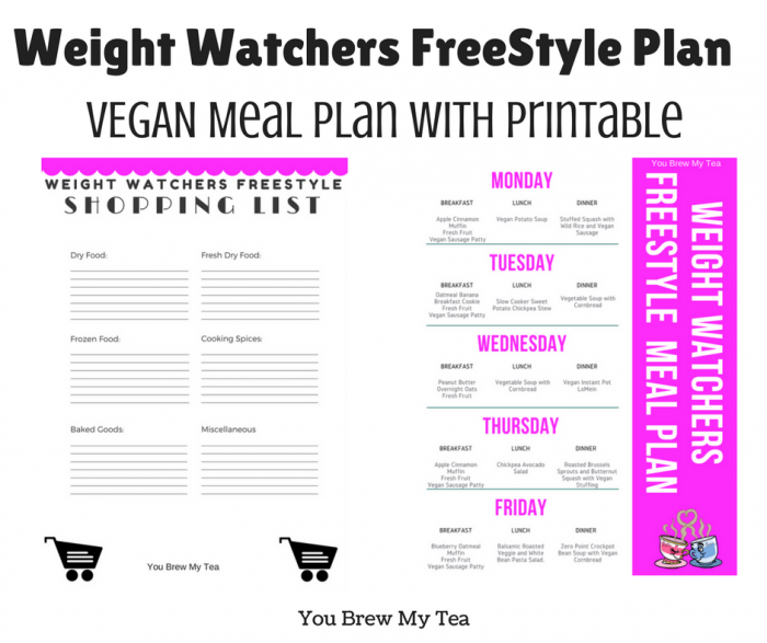 Weight Watchers FreeStyle Vegan Meal Plan like this one is a great way to stick to the new program and stay within your SmartPoiints with no struggles! Tons of great low point recipes for 3 meals a day and Weight Watchers FreeStyle snacks!