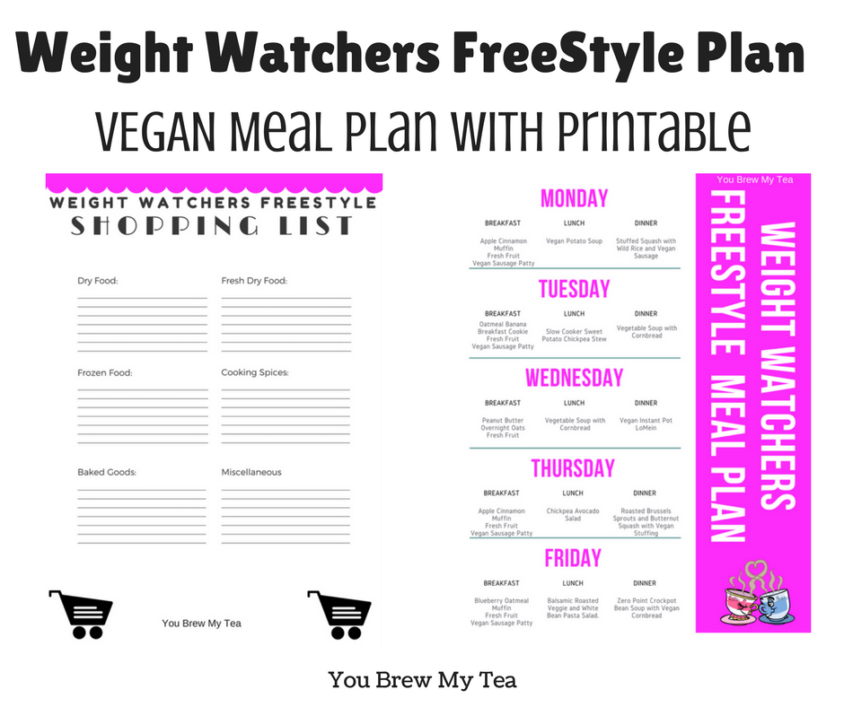 Weight Watchers FreeStyle Vegan Meal Plan - You Brew My Tea