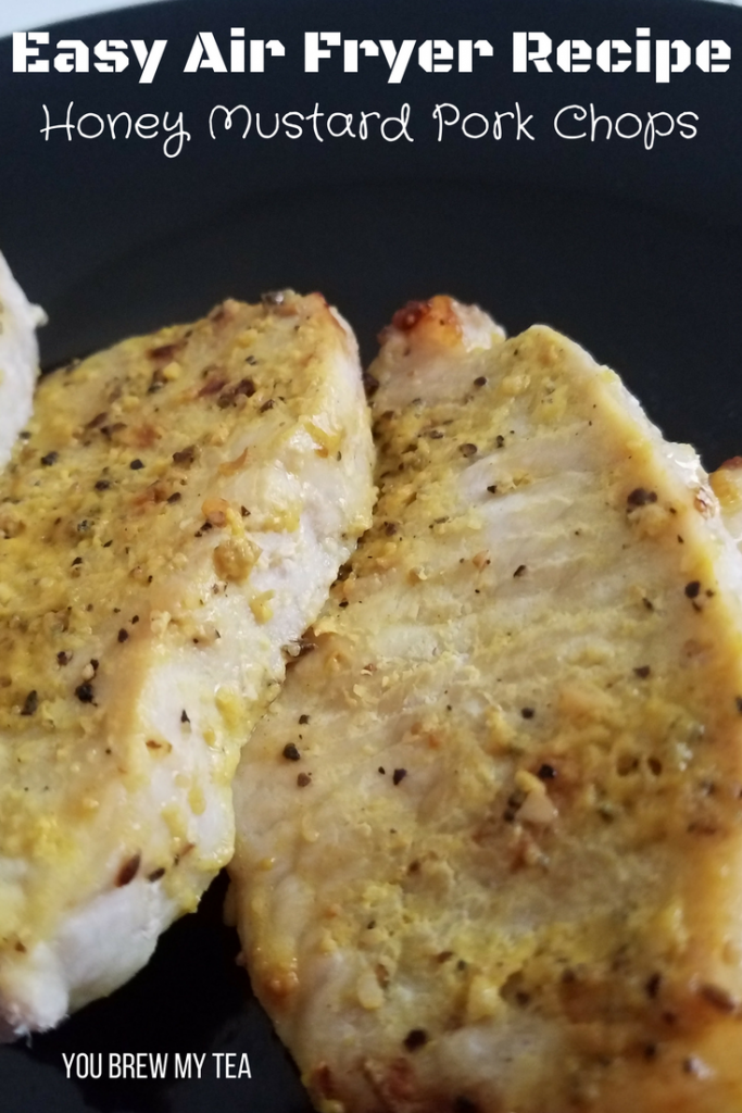 Air Fryer Honey Mustard Pork Chops are delicious and easy to make! A great Weight Watchers FreeStyle recipe that everyone loves and is ready in just 12 minutes!