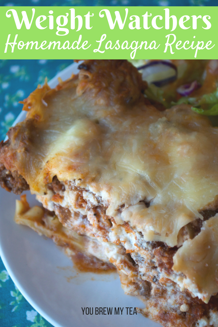 Make our Lightened Up Homemade Lasagna Dish as a great flavorful and family-friendly meal everyone loves for only 6 SmartPoints on Weight Watchers FreeStyle plan!