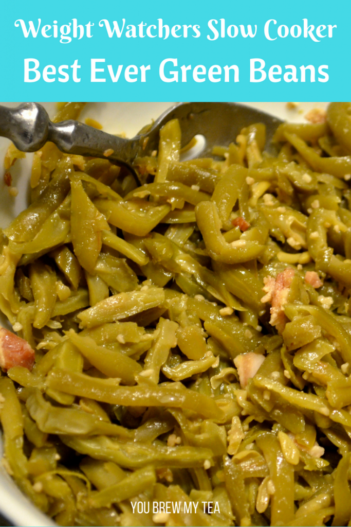 Slow Cooker Best Ever Green Beans are so easy to make and delicious! You'll love the flavor of this FreeStyle Recipe for only 3 SmartPoints per serving on Weight Watchers!