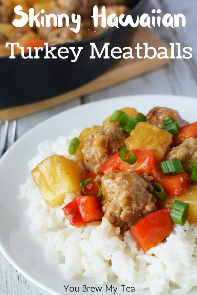 Skinny Hawaiian Turkey Meatballs are a great Weight Watchers FreeStyle Recipe that are easy to make and kid-friendly! Only 3 SmartPoints per serving and a great freezer meal idea that kids will love!