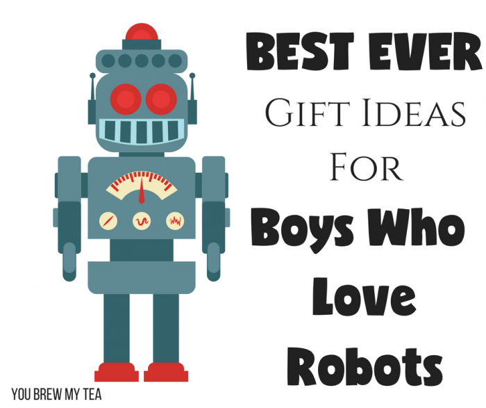 Robotics themed boys gifts are tons of fun! We love this list of gifts for boys that include amazing robots, robot kits, books about robots, and even more!