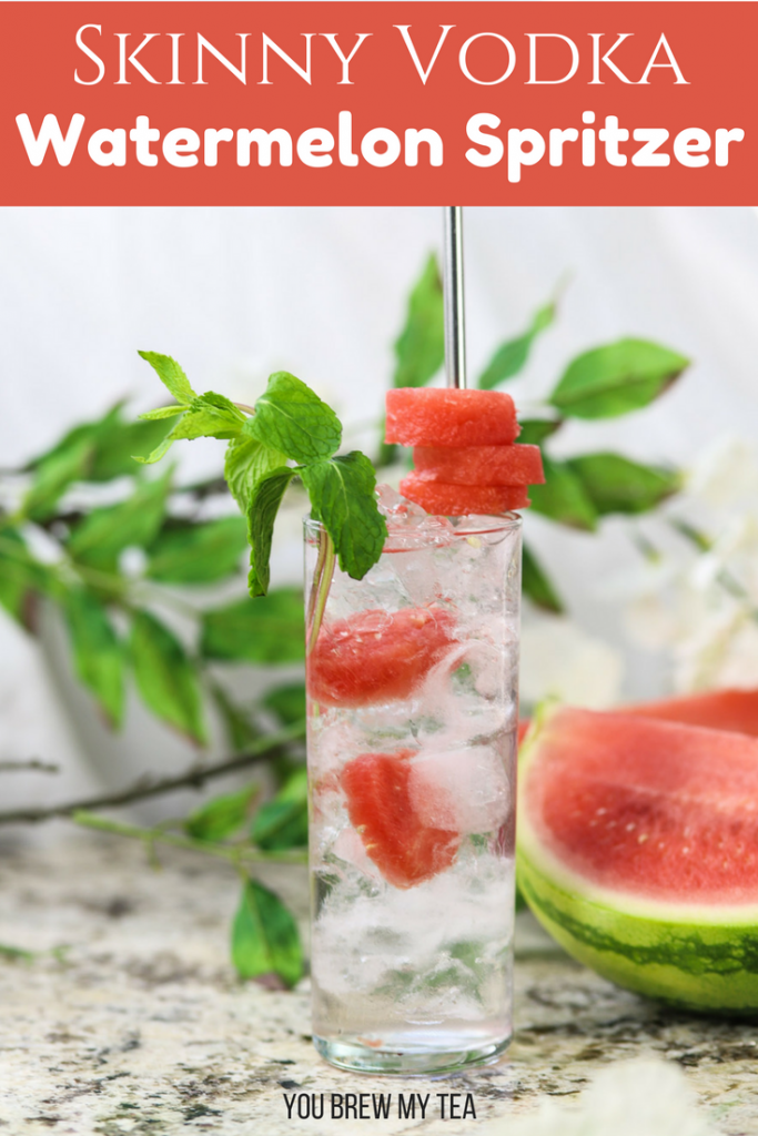 Make this Skinny Watermelon Vodka Spritzer for an easy cocktail that is also low in calories! Only 2 SmartPoints on the FreeStyle Weight Watchers plan! Tons of great flavor for low calorie cocktail!