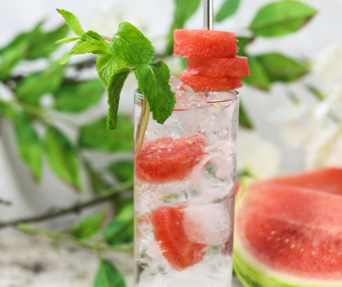 Skinny Watermelon Vodka Spritzer