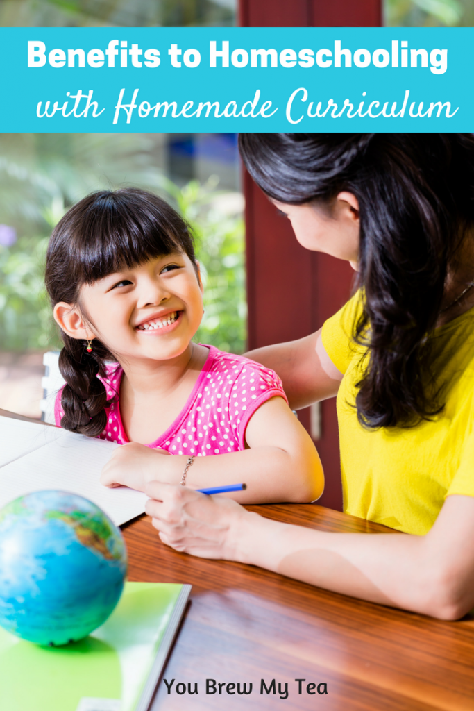 Check out our list of Benefits to Homeschooling with a Homemade Curriculum!  Plus, we give you tips on where to go for resources for your homeschool classroom!