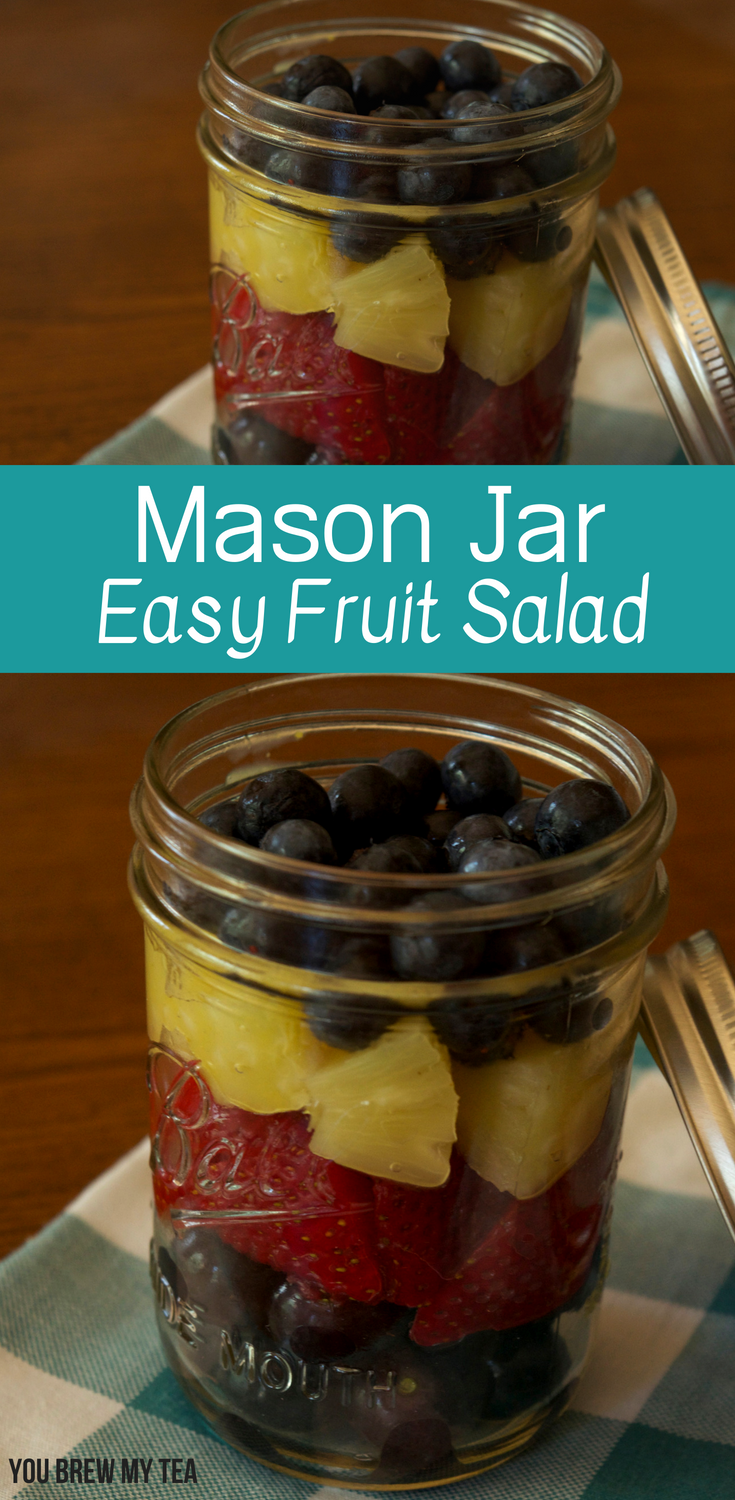 Make our easy fruit salad in a mason jar as a great sweet treat that is kid-friendly and delicious! This Weight Watchers FreeStyle Zero Point recipe is fast and easy!