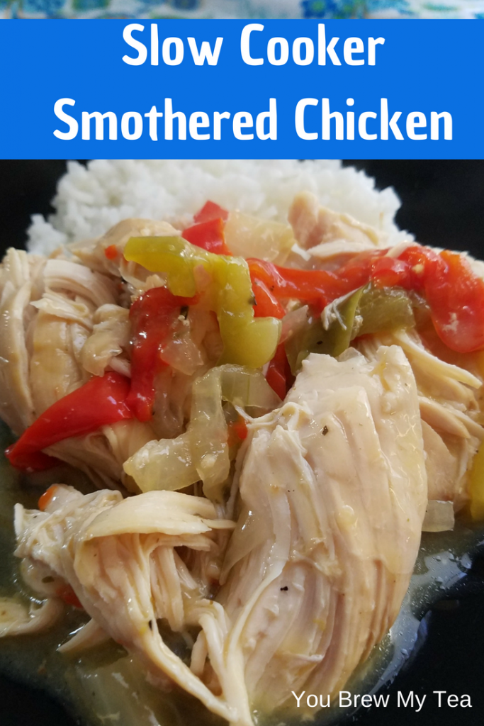 Make our Slow Cooker Smothered Chicken Breasts for only 3 SmartPoints on the Weight Watchers FreeStyle Plan! A delicious comfort food that is perfect for fall and winter cooking! Ready in 3 hours!