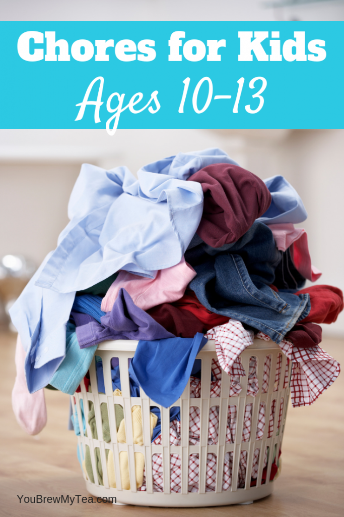 Don't miss our top list of Chores for Kids ages 10-13! Have your Tweens do more around the house using this chore list for tweens!