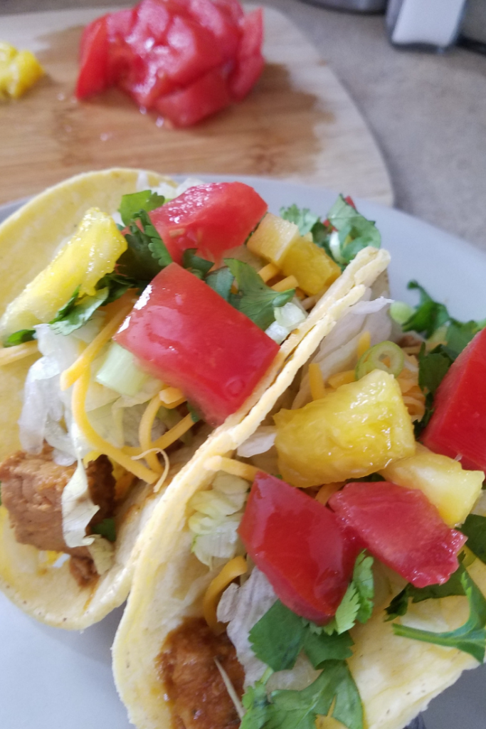 Al Pastor Tacos are a great addition to your menu plan! Instant Pot recipes save tons of time in your weekly meal plan! Make our easy Instant Pot Al Pastor as a perfect pork recipe for your menu this week!