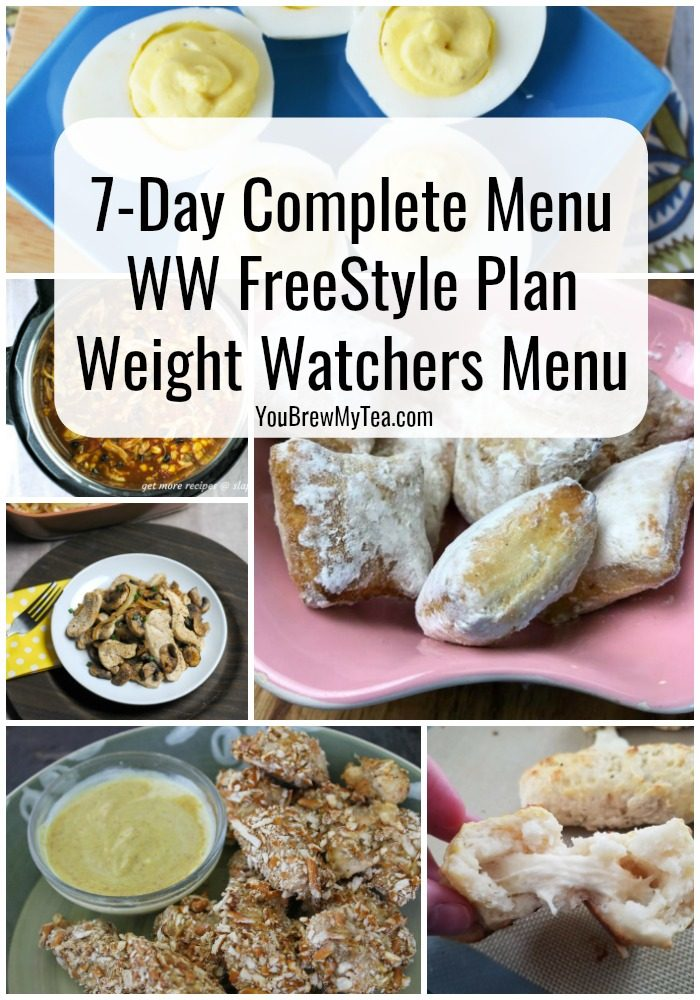 Print our Complete 7-Day menu Plan for Weight Watchers FreeStyle Plan! This easy to use Meal Plan is great for those on the WW FreeStyle SmartPoints program. Easy to adapt and family-friendly meals make it a hit!