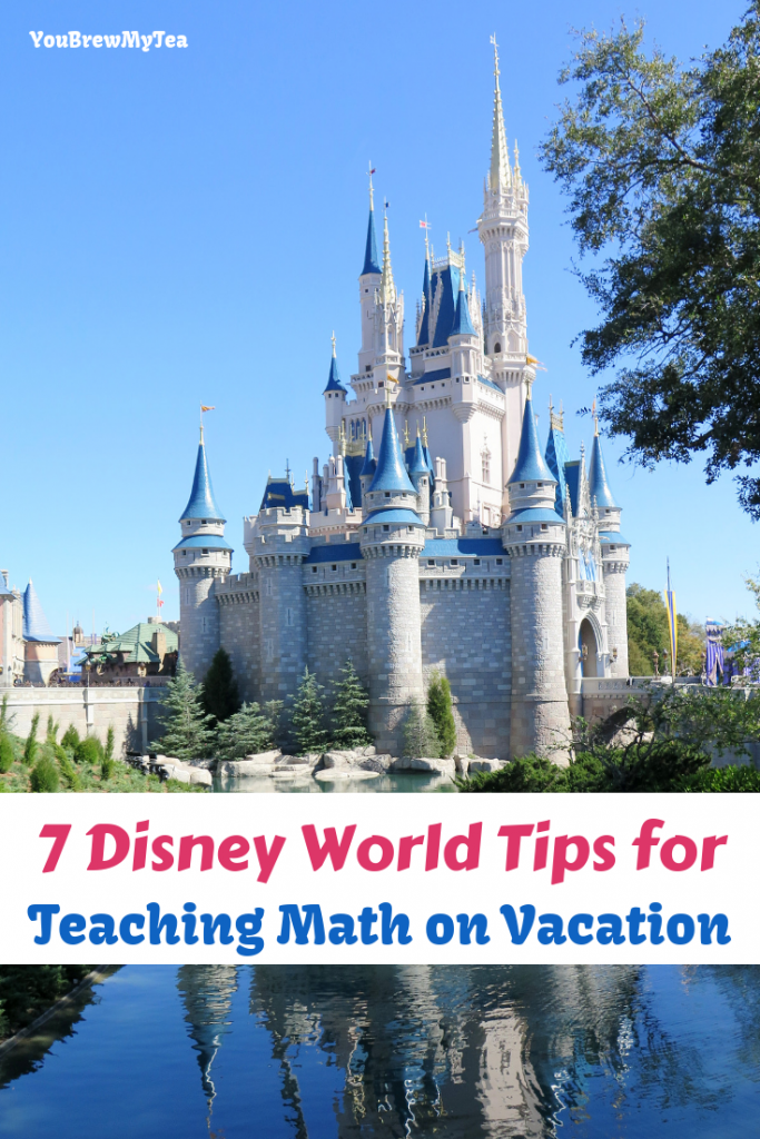 Don't miss these 7 Disney World Tips for Teaching Math on Vacation! Homeschool at Walt Disney World with these simple tips that kids will love! Disney vacation planning is easier than ever when you can continue homeschooling on vacation.
