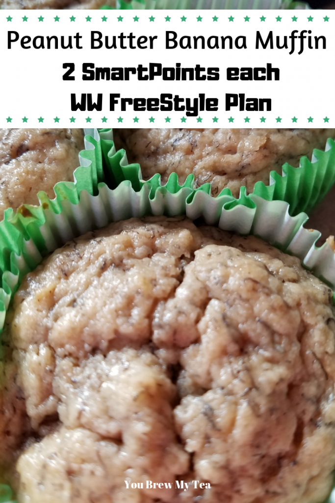 Make these amazing Peanut Butter Banana Muffins for only 2 SmartPoints per muffin using only whole foods ingredients on the WW FreeStyle Plan! A great healthy Weight Watchers muffin recipe you will love!