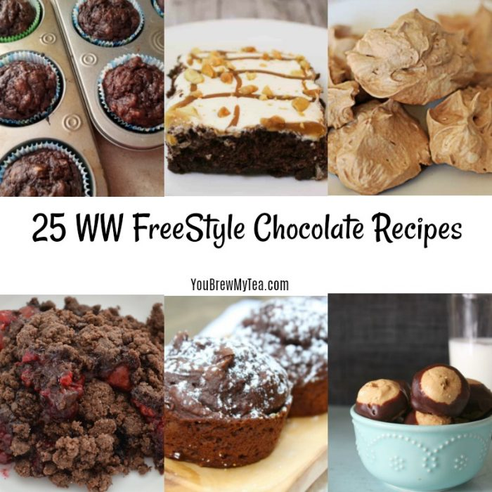 Don't miss this amazing list of delicious Weight Watchers friendly chocolate recipes that will thrill everyone. These are perfect for your WW FreeStyle menu plan!