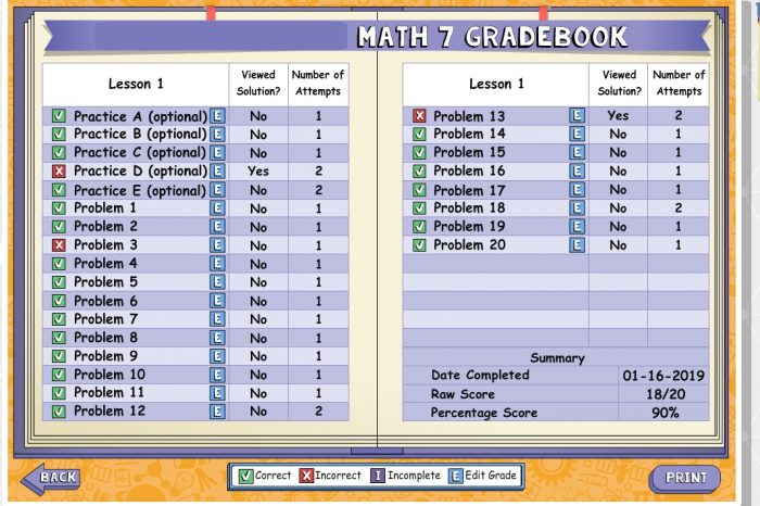 Check out how the parent can view their students progress in each individual lesson